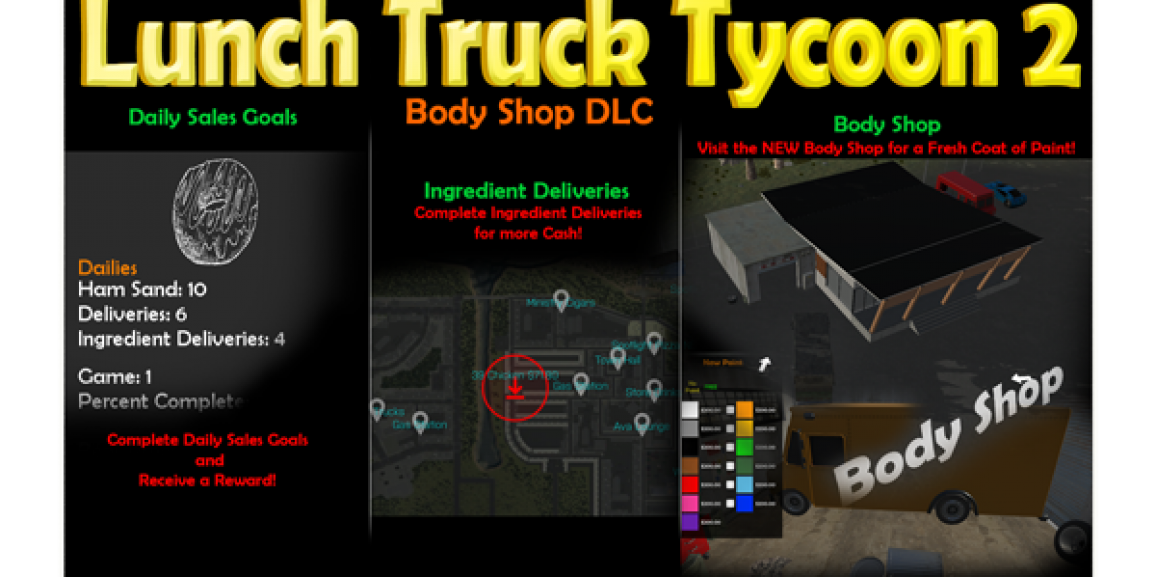 Lunch Truck Tycoon 2 Body Shop DLC